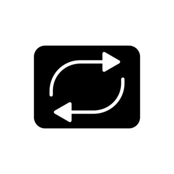 Repeat button vector flat glyph icon. Music sign. Graph symbol for music and sound web site and apps design, logo, app, UI