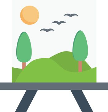 drawing vector flat colour icon