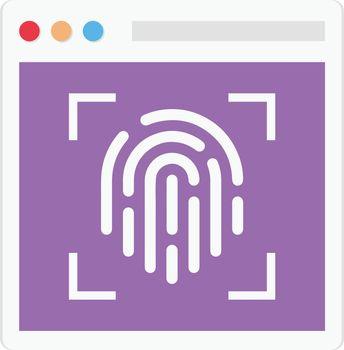fingerprint vector colour flat icon