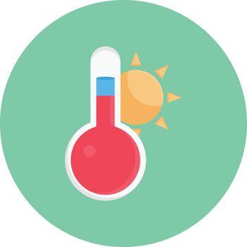 temperature vector colour flat icon