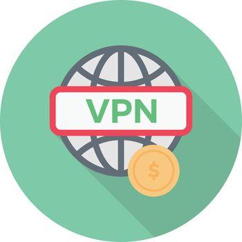 internet vector colour flat icon