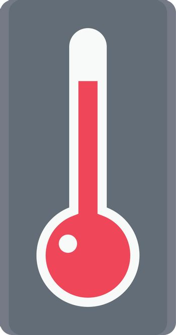 thermometer vector flat colour icon