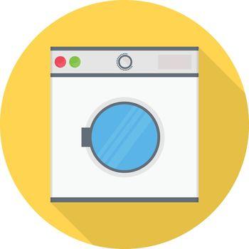machine vector flat color icon