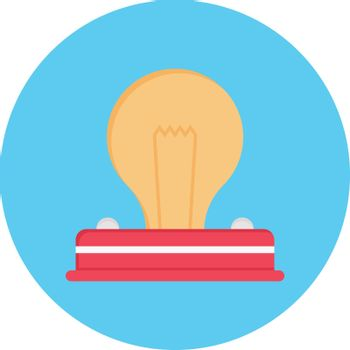 light vector flat color icon