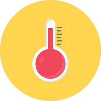 temperature vector flat colour icon
