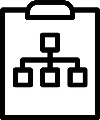 network vector thin line icon