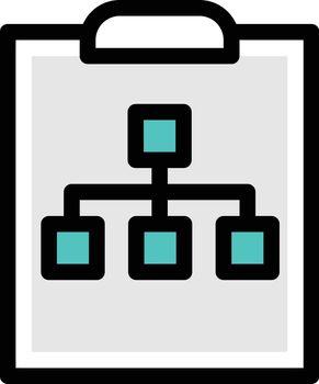 network vector colour line icon