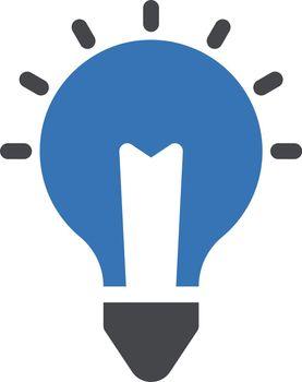 creative vector glyph colour icon