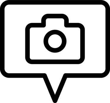 camera vector colour line icon