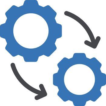 project vector glyph colour icon