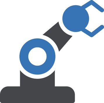 machine vector glyph colour icon