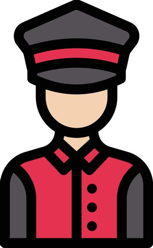 guard vector line colour icon