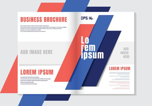 Brochure design template geometric vivid color element background. Business cover modern style. Vector illustration