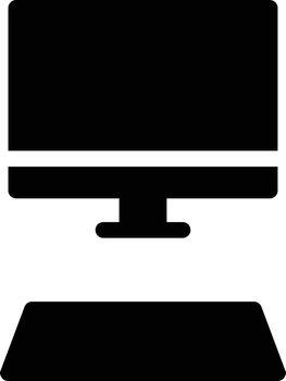 computer vector glyph flat icon