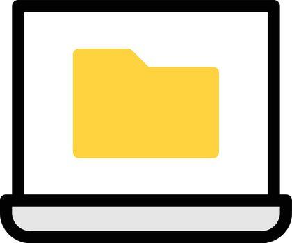 computer vector colour line icon