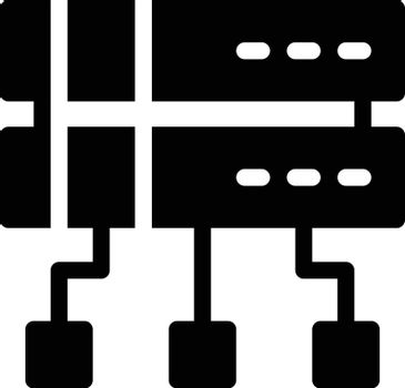 network vector glyph flat icon