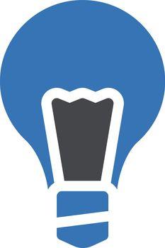 light vector glyph color icon