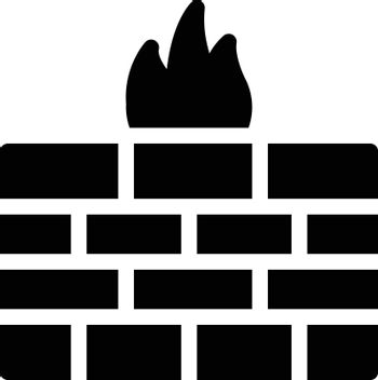 firewall vector glyph flat icon