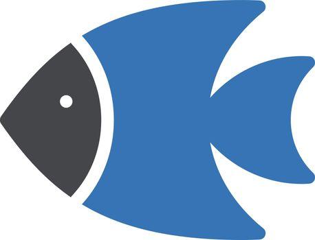 fish vector glyph color icon