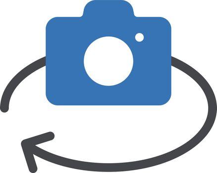 camera vector glyph color icon