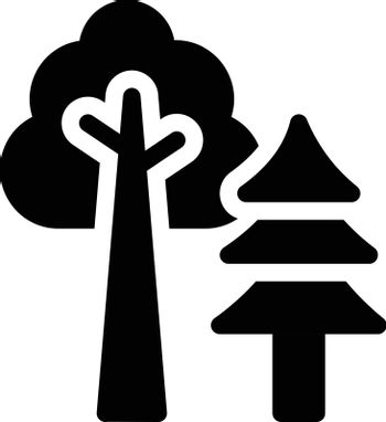 nature vector glyph flat icon