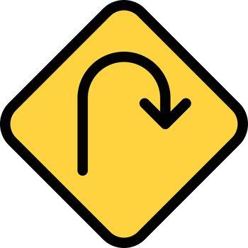 sign vector colour line icon