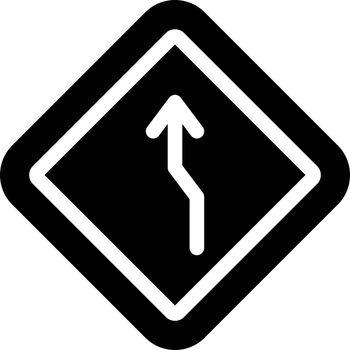 curve vector glyph flat icon
