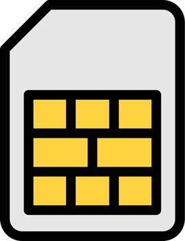 card vector colour line icon