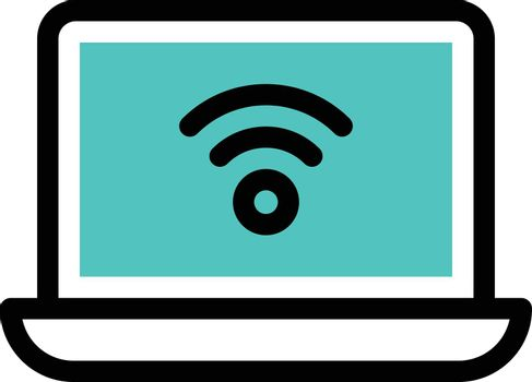 internet vector colour line icon