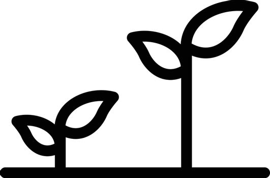 plant vector thin line icon