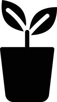 plant vector glyph flat icon