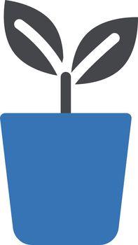 plant vector glyph color iconi