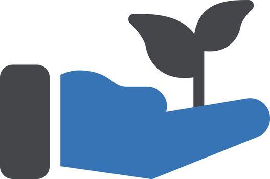 plant vector glyph color icon