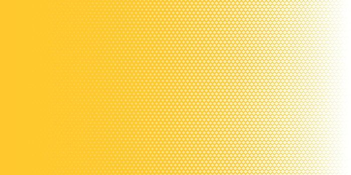 Abstract white squares pattern halftone texture horizontal on yellow background pop art style. You can use for Design elements presentation, banner web, brochure, poster, leaflet, flyer, etc. Vector