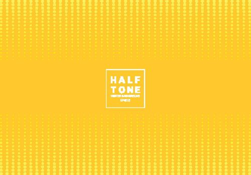 Abstract of light dot pattern halftone design concept yellow background with space fot text. Decoration website layout header and footers and brochure, poster, banner web, card, etc. Vector illustration
