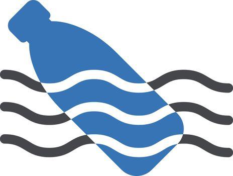 bottle sea vector glyph colour icon