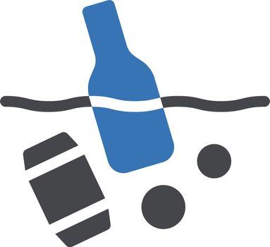 garbage vector glyph colour icon