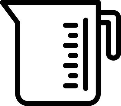jug measurement vector thin line icon