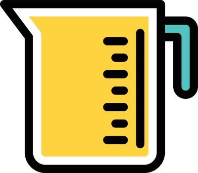jug measurement vector line colour icon