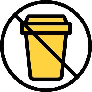 stop garbage vector line colour icon