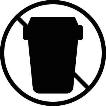 stop garbage vector glyph flat icon