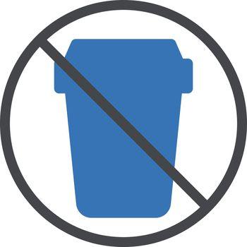 stop garbage vector glyph colour icon