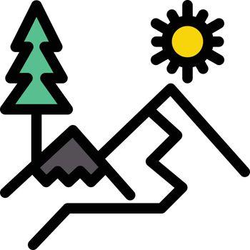 nature vector line colour icon
