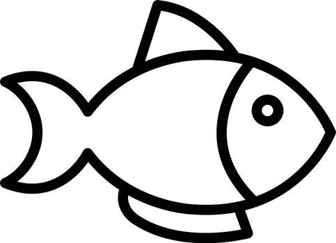 fish vector thin line icon