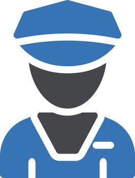 guard vector glyph colour icon