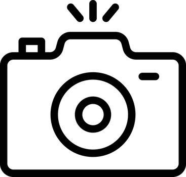 camera vector thin line icon