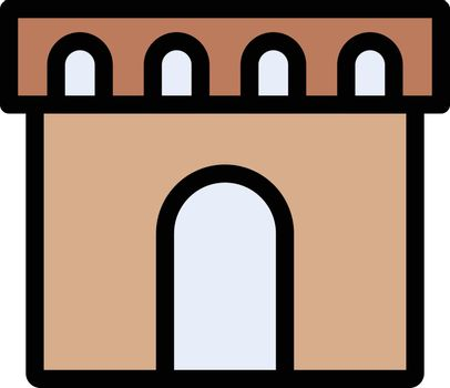 historical vector line colour icon