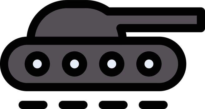 tanker war vector line colour icon