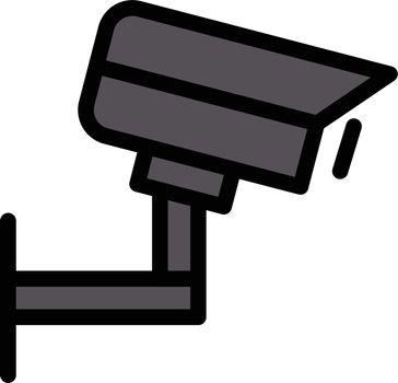 CCTV vector line colour icon