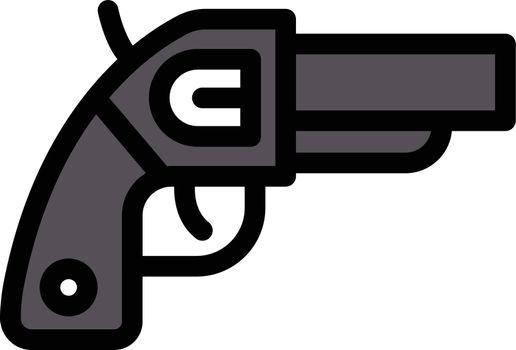 revolver vector line colour icon